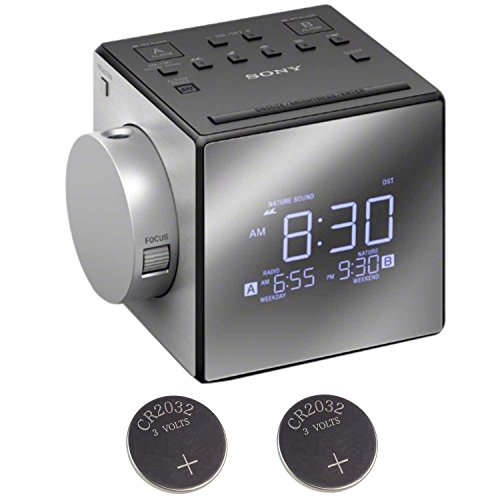 Sony ICFC1PJ Alarm Clock Radio w/2 Back-up 2032 Lithium Batteries