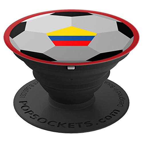 (Flag of Columbia for Soccer Football & Futbol Lover PACJ3683 - PopSockets Grip and Stand for Phones and Tablets)