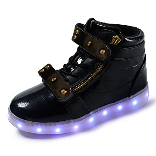 Kids LED LED Light for Child Light Up Kids Sneakers Boy Shoes Black Fashion up Sneaker Girls Adult q1xrqYP