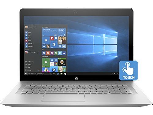 HP ENVY 17.3-inch 17t Full HD Touchscreen Premium Laptop PC - Intel Core i7-7500U Processor, NVIDIA GeForce 940MX, 16GB Memory, 512GB SSD, DVDRW, BT, Backlit Keyboard, Silver (Windows 10 Pro)