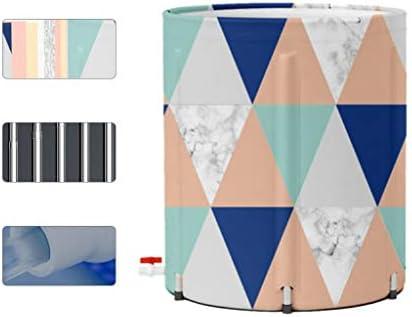浴槽家庭用折りたたみ式浴槽成人用浴槽用折りたたみ式浴槽全身の家庭用浴槽高さを増す浴槽家庭用の折りたたみ収納 浴室用設備 (Color : Diamond, Size : 70*70cm)