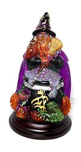 Old World Christmas Witch with Cauldron Glass Halloween Night Light Figurine -