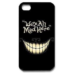 EBestAmShop(TM) Carcasa de Plástico Reforzado We're All Mad Here Smile Face Funda Carcasa Protectora Para Apple iPhone 5C