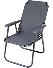 Folding chair - for trip & camping - gray