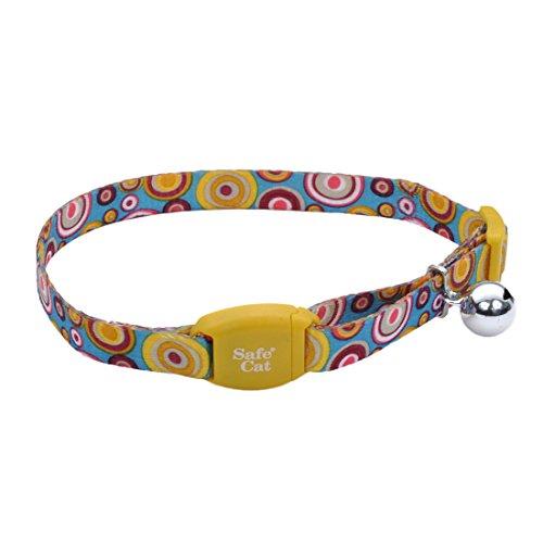 Golden Kaleidoscope Safe Cat Adjustable Breakaway Collar with Magnetic Buckle By Coastal Pet