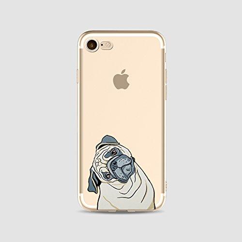 TPU silicone Housse Coque Pour iPhone 6 iPhone 6S, Ruirs Nice coloré d'impression mignons chien dog transparent transparent TPU téléphone étui pour iPhone 6 iPhone 6S 4.7inchs(Colour 10)