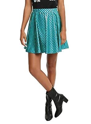Spadehill Halloween Women's Mermaid Shiny Mini Skirt