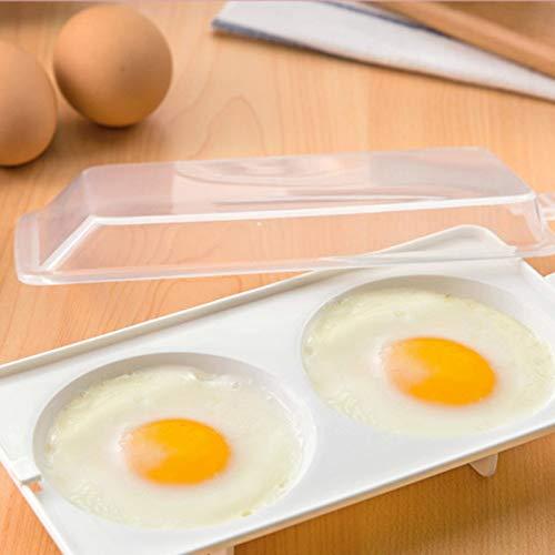 Egg Poachers - 2pcs! Microwave Oven Round Shape Egg Steamer