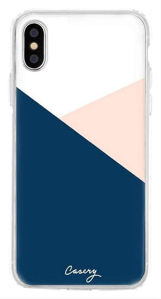 reputable site b6c20 37c77 Amazon.com: The Casery Womens Colour Block iPhone X/XS Case - White ...