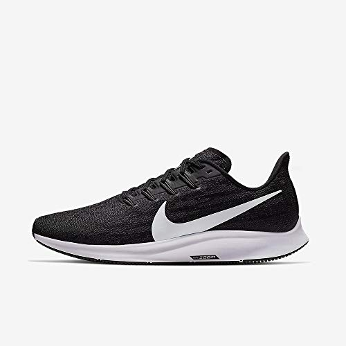Nike Men's Air Zoom Pegasus 36 Running Shoe Black/White/Thunder Grey Size 10 M US (Nike Running Shoes Man)
