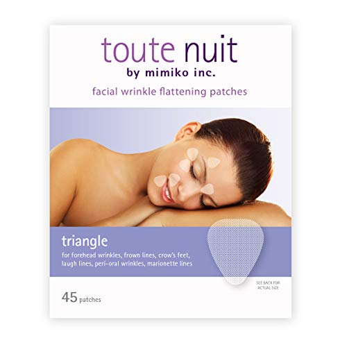 (Toute Nuit Facial Wrinkle Flattening Patches, Triangle - Forehead, Around Eyes & Lips (Anti-Wrinkle Patches/Face Tape) - 45 Patches)