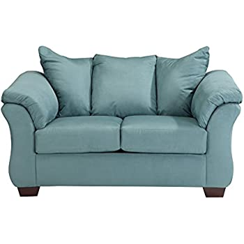 Ashley Furniture Signature Design   Darcy Loveseat   2 Seats   Ultra Soft  Upholstery   Contemporary   Sky