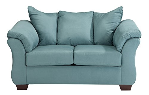 Ashley Furniture Signature Design - Darcy Loveseat - 2 Seats - Ultra Soft Upholstery - Contemporary - Sky