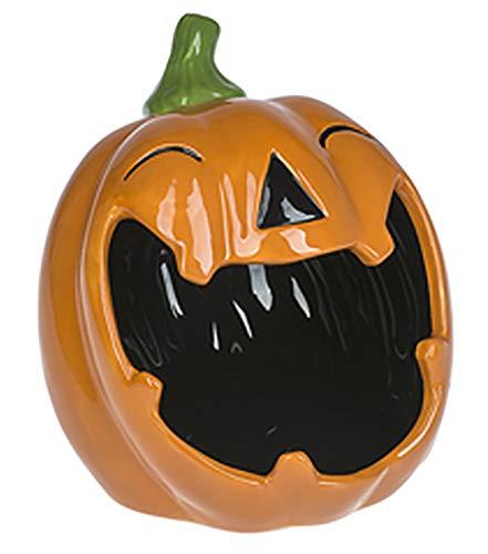 (ShopGanz Jack-O-Lantern Open Mouth 6 x 5.5 Inch Ceramic Halloween Candy Bowl)