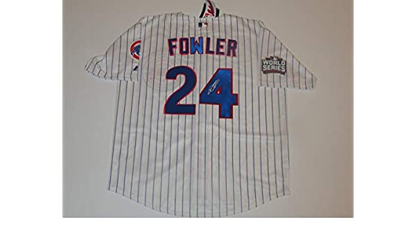 premium selection 4a0b4 73337 DEXTER FOWLER SIGNED #24 CHICAGO CUBS 2016 WORLD SERIES ...