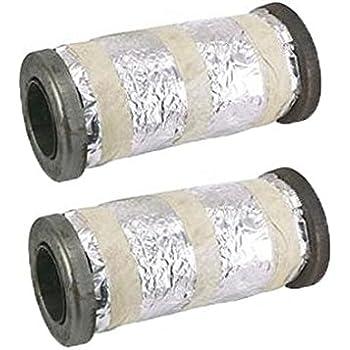 SCHOENFELD 4 Long 3-1//2 Diameter Collector Muffler Insert P//N 43035