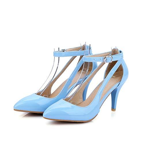 Bleu Compensées SDC05659 Femme Sandales AdeeSu 068IgX