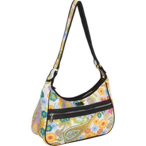Beach Handbags Bayshore Beach Large Zip Top Bag (Whimsical Daydream), Bags Central