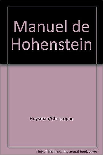 En ligne téléchargement Manuel de Hohenstein pdf, epub ebook