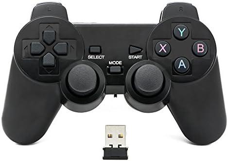 Todo para el streamer: QUMOX Mando de juego Controlador inalámbrico 2.4GHz Gamepad Joystick Gamepad para PC