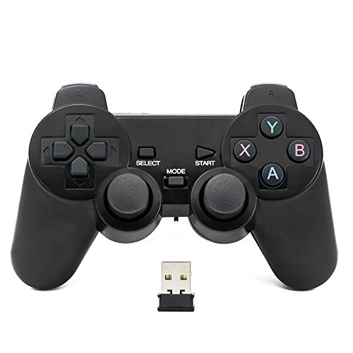 QUMOX 2.4GHz wireless gamepad joystick joypad game controller for PC
