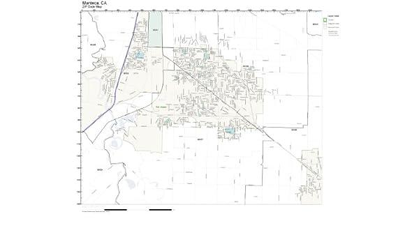 Manteca Zip Code Map.Amazon Com Zip Code Wall Map Of Manteca Ca Zip Code Map Laminated