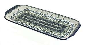 Polish Pottery Blue Posy Bread Tray