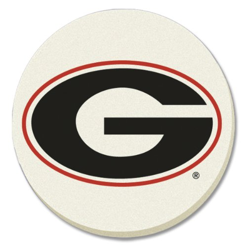 NCAA Georgia Bulldogs Absorbent Coaster - Pack Of 4 by Conimar