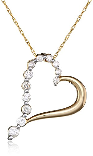 10k-yellow-gold-diamond-journey-heart-shaped-pendant-1-4-cttw-h-i-color-i2-i3-clarity