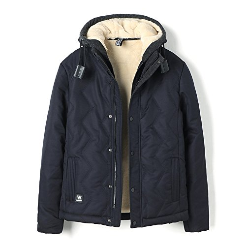 warm cotton Deep Young HHY XXL leisure coat padded fur jacket padded blue cotton winter 8wqwPX
