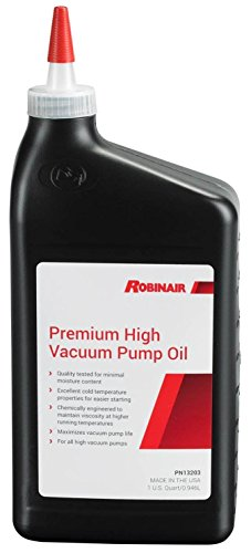 Robinair 13203 Premium High Vacuum Pump Oil - 1 Quart Vacuum Pump Supply