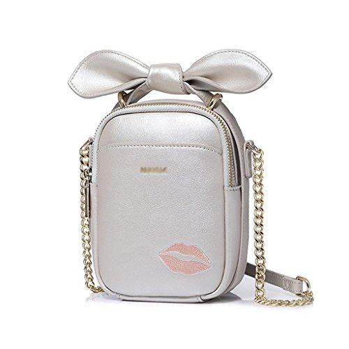 Sra Jiute Paquete Shoulder Pu De Bolsa Jiute D Package Bag Mensajero D Korean Mrs Messenger Pu color Korean La A De Hombro A Cuero color Leather De De qqvdHra