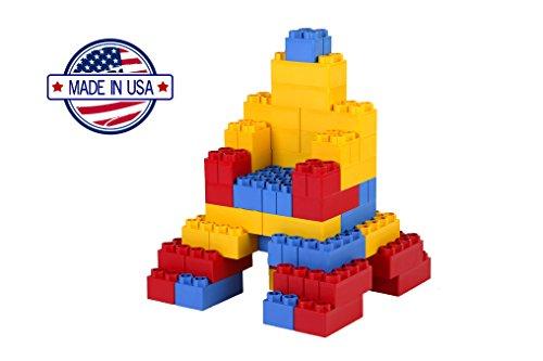 41BaxrWVUnL - 96pc Jumbo Blocks - Standard Set (Made in the USA)