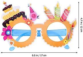 Amosfun 12PCS Feliz cumpleaños Marcos de anteojos Papel ...