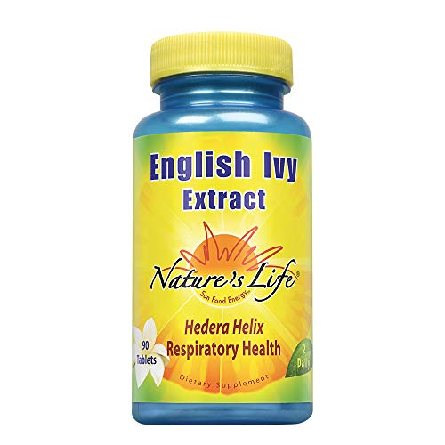 Nature's Life English Ivy Extract | Helps Support Respiratory & Bronchial Health | 136mg of Hedera Helix Leaf Extract (English Ivy), Vegetarian | 90ct