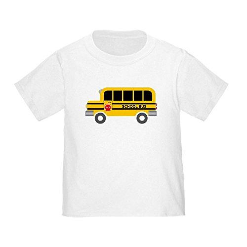 CafePress - School Bus T-Shirt - Cute Toddler T-Shirt, 100% Cotton (School Toddler Tee)