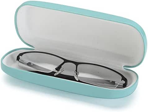 AV Medium Protective Hard Shell Glasses Case for Eyeglasses and Sunglasses with Microfiber Cleaning Cloth - Choose Your Color