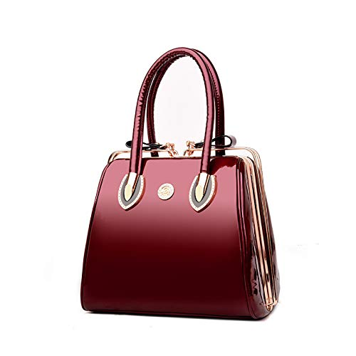 Coolives Boston Clip Box red Wine Top Women Wine Handle Red Bag rSrWqB1nx