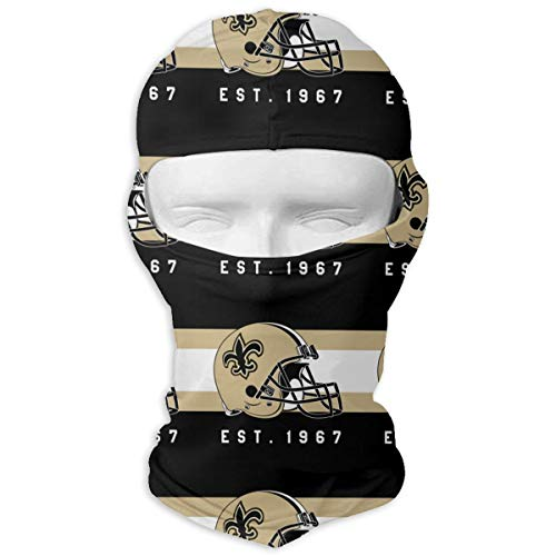 Jacoci Custom New Orleans Saints Balaclava Tactical Ski Full Face Mask Hood Skullies Beanies -