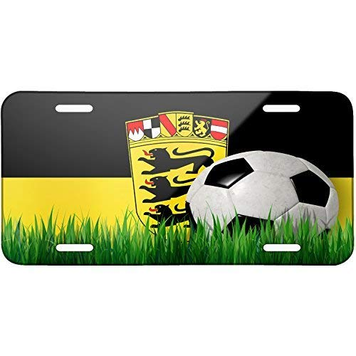 - ClustersNN Soccer Team Flag Baden-Wuerttemberg Region Germany Metal License Plate 6X12 Inch