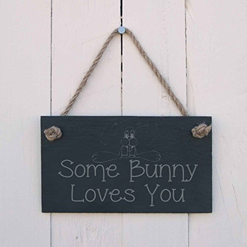 Iliogine Vintage Wood Sign Some Bunny Loves You A Great Present To Celebrate Springtime Home Decor Wall Art Plaque Birthday Gift -
