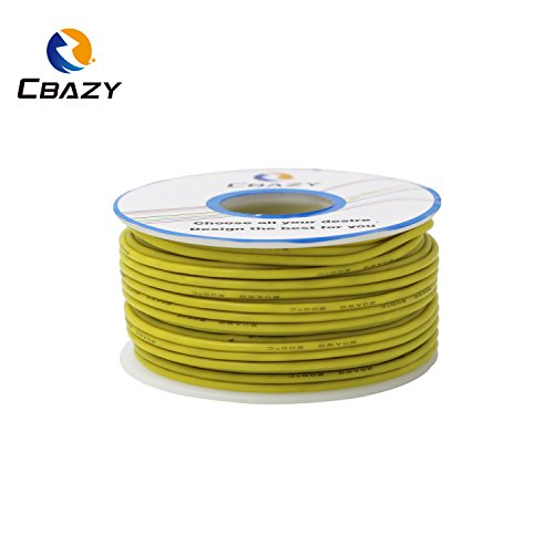 CBAZY™ Hook up Wire (Stranded Wire) 20 Gauge Flexible Silicone Wire 20AWG 25M (82 Feet) Electrical Wire Yellow