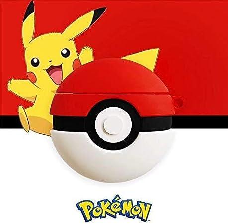 Imagen deBlossomingLove - Funda para Llavero AirPods (Silicona, diseño de Pikachu, Estilo Pokémon, para Carga de AirPods)