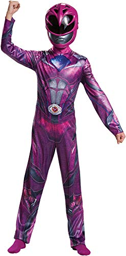 Girl's Classic Pink Power Ranger Outfit Funny Theme Child Halloween Costume, Child S (4-6) ()