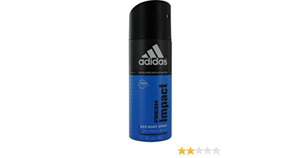 Centro de producción Asser finalizando  Amazon.com : Adidas Fresh Impact Deodorant Body Spray for Men, 5 Ounce :  Colognes : Beauty