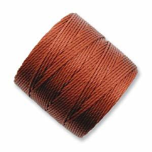 Superlon #18 Twisted Nylon Bead Cord 77 Yard Spool Bobbin SIENNA