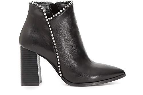Talon Chaussures LC433 CAF Talon Noires Noir Nero Bottines 010 Femmes Orteils 4w8ZgRwq