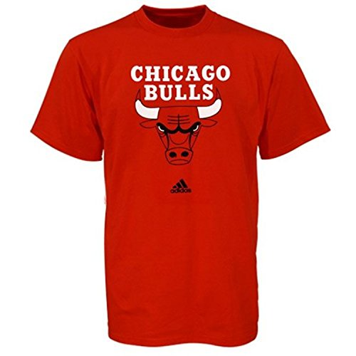 Chicago Bulls Adidas Red Primary Logo T-shirt (Medium)