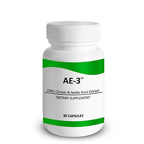 Chrysine avec la racine d'ortie DIM & cinglante extrait - AE-3 - inhibiteur de l'Aromatase naturels & bloqueur d'oestrogène pour les hommes - avec pipérine pour l'Absorption accrue - 30 Capsules