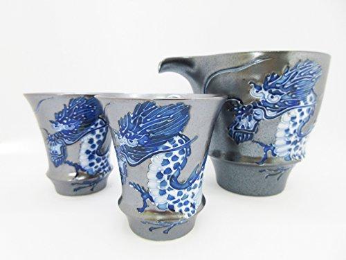 Arita Ware Katakuchi Sake Set Dragon